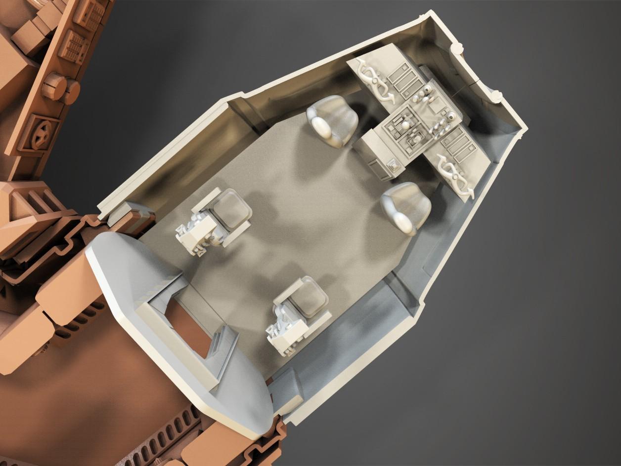 8.jpg Download free STL file Millenium Falcon, Cockpit.  • 3D printable object, Alex_x_x_x