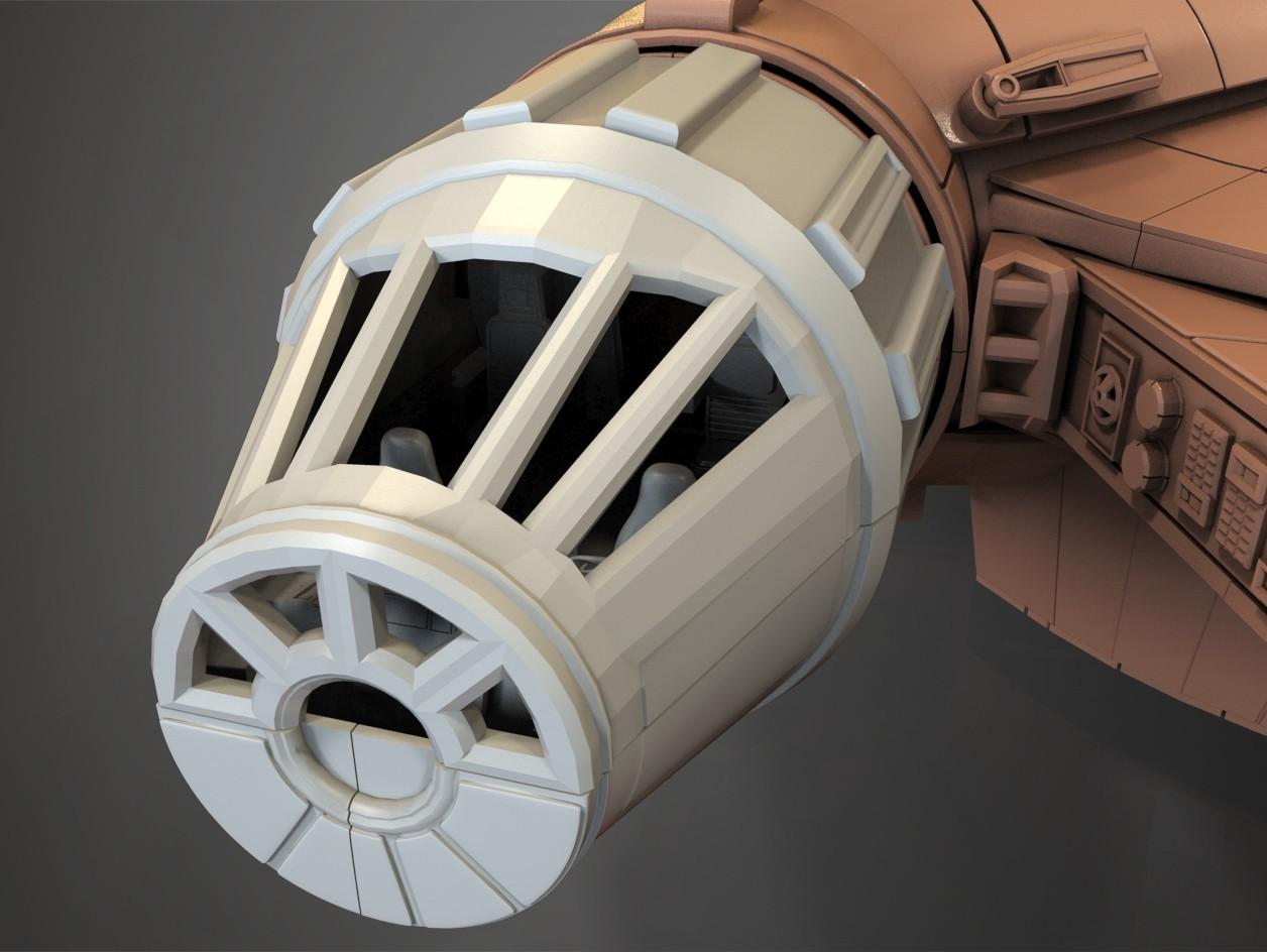 3.jpg Download free STL file Millenium Falcon, Cockpit.  • 3D printable object, Alex_x_x_x