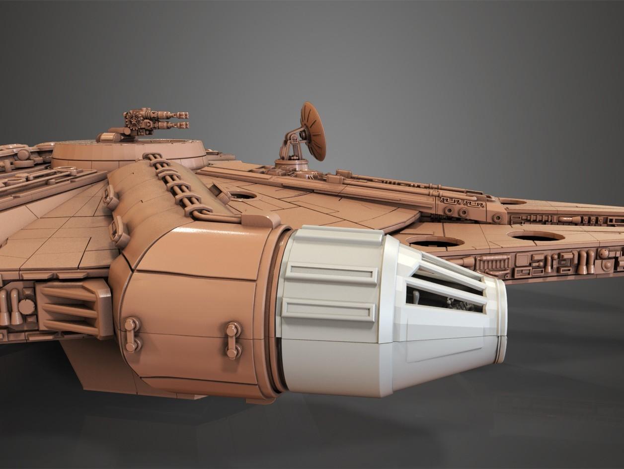 4.jpg Download free STL file Millenium Falcon, Cockpit.  • 3D printable object, Alex_x_x_x