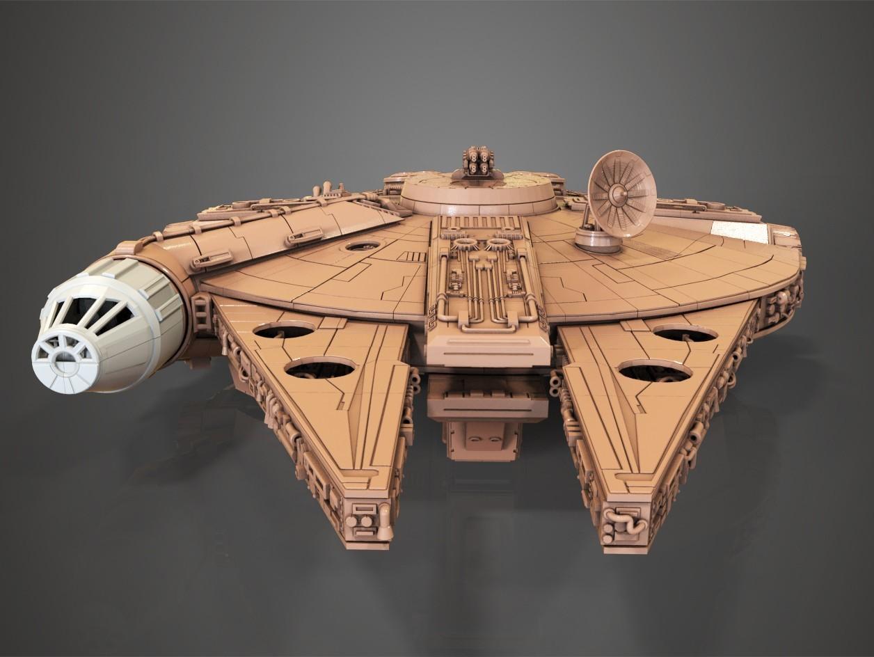 5.jpg Download free STL file Millenium Falcon, Cockpit.  • 3D printable object, Alex_x_x_x