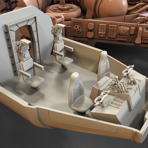 7.jpg Download free STL file Millenium Falcon, Cockpit.  • 3D printable object, Alex_x_x_x