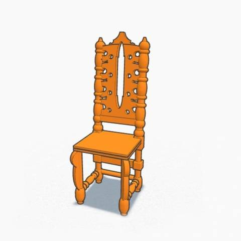 Free 3D print files Antique Chair, AnaSugar