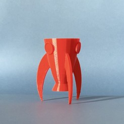 Free 3d print files Rocket Planter, AnaSugar