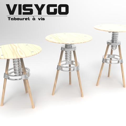 Free 3D printer designs VISYGO the DIY screw stool // UPGRADE DO NOT DOWNLOAD, NerioBaus