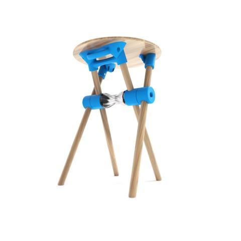 Free STL AMIGO, DIY folding stool, NerioBaus