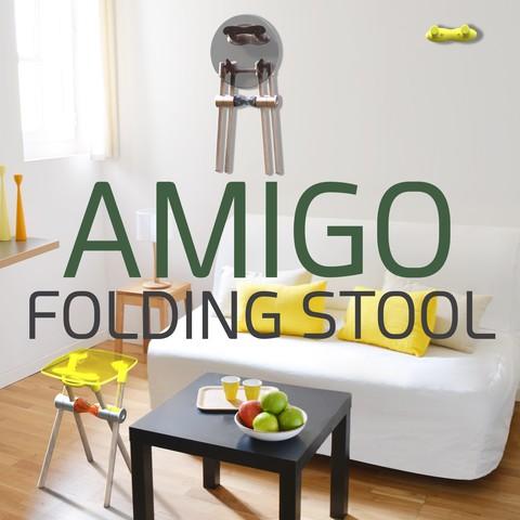 Fichier impression 3D gratuit AMIGO, tabouret pliable DIY !, NerioBaus