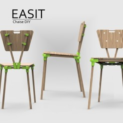 Download free 3D printer files EASIT printable chair! ONGOING UPGRADE DO NOT DOWNLOAD, NerioBaus