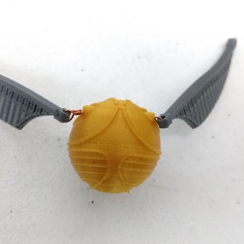 Descargar Modelos 3D para imprimir gratis Golden Snitch Pendant, APM9874