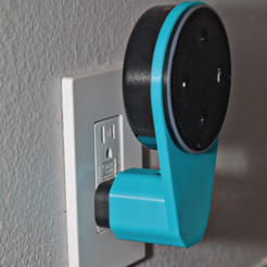 archivos stl Echo Dot Outlet Mount gratis, MGX