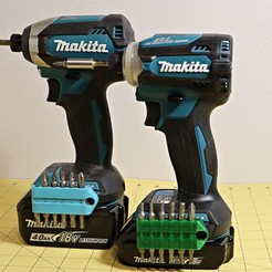 Download free 3D model Compact Bits holder for Makita LXT (Magnetic, Customizable), MGX