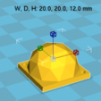 Impresiones 3D gratis Ejecutivo / Foto de la lámpara 3D, Med