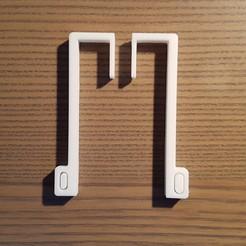 Impresiones 3D gratis barra de la cortina de apoyo, Med