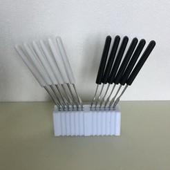 Download free STL files Apero fork/peak holder, Med