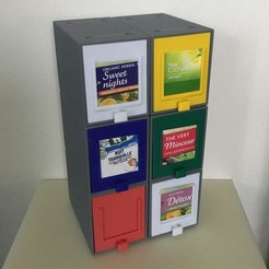 Download free STL files BOITE A THE / TEA BOX, Med