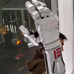 3d printer designs Star Wars Inspired Mandalorian Gauntlet, Jaedon