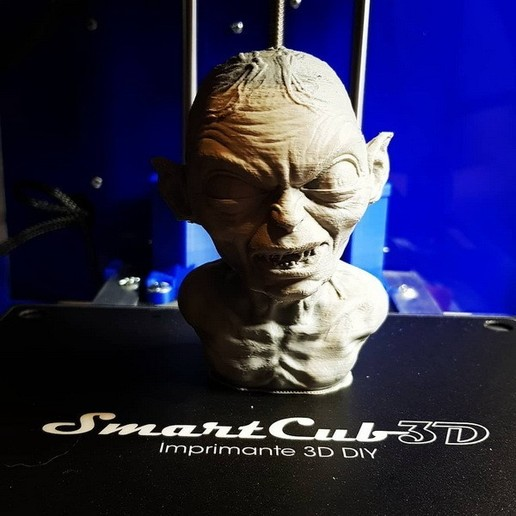 Download free 3D printing templates Golum bust, from Lord Of The Rings, SmartCub3D