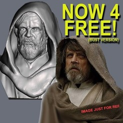 Free 3D print files OLD LUKE SKYWALKER INSPIRITED BUST, Masterclip
