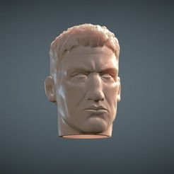 3D printing model Punisher inspirited 1/6 Figure Head, Masterclip