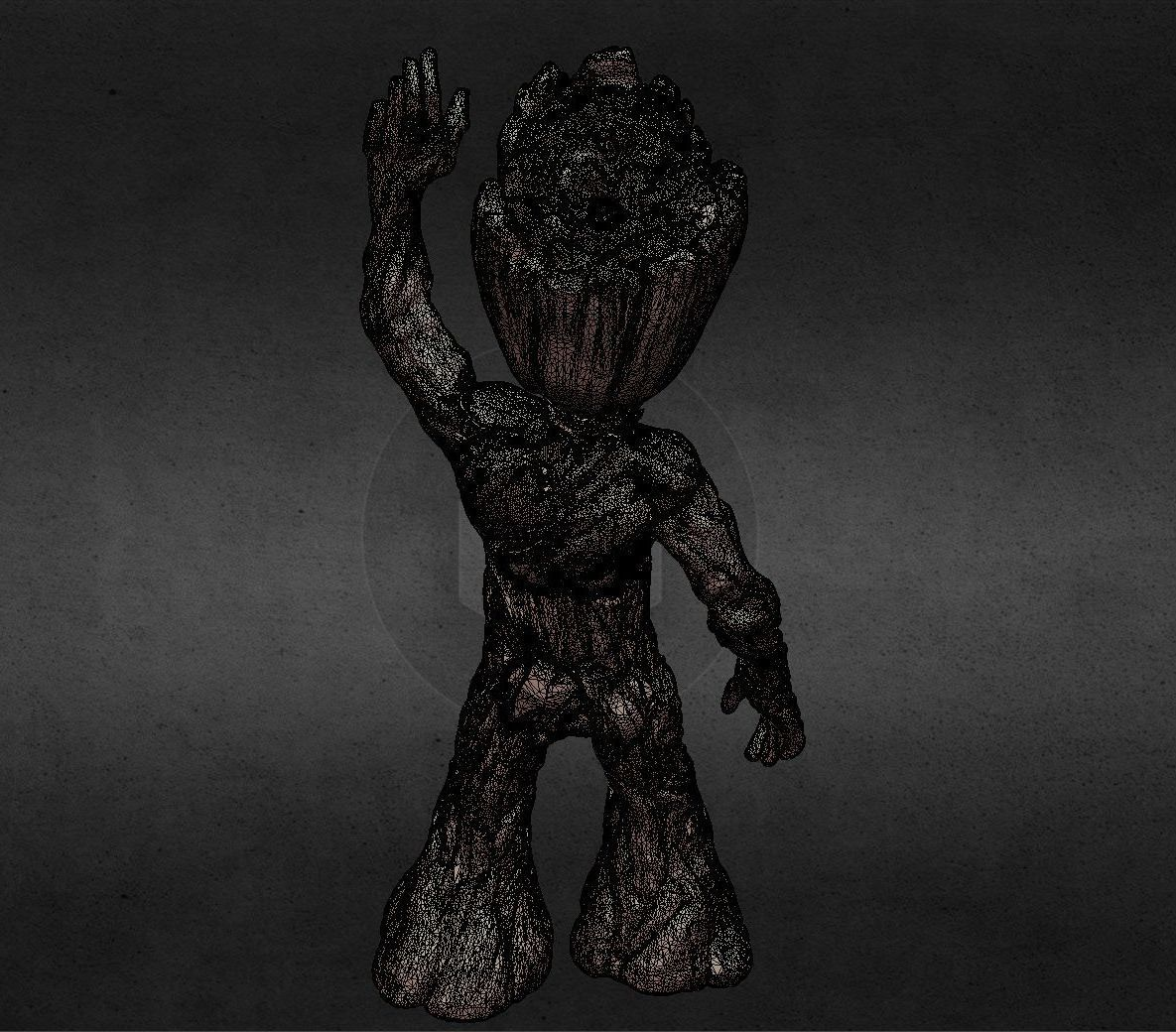 capture_06222017_113420.jpg Download OBJ file LIL BABY GROOT • 3D print template, Masterclip