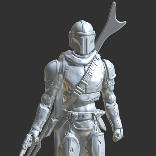 Download STL File MANDALORIAN CHARACTER ACTION FIGURE. ・ Cults