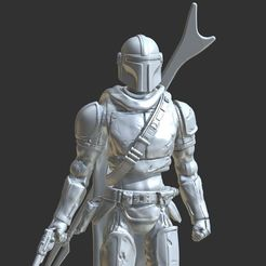 capture_12202019_020029.jpg Download STL file MANDALORIAN CHARACTER ACTION FIGURE. • 3D printing object, Masterclip