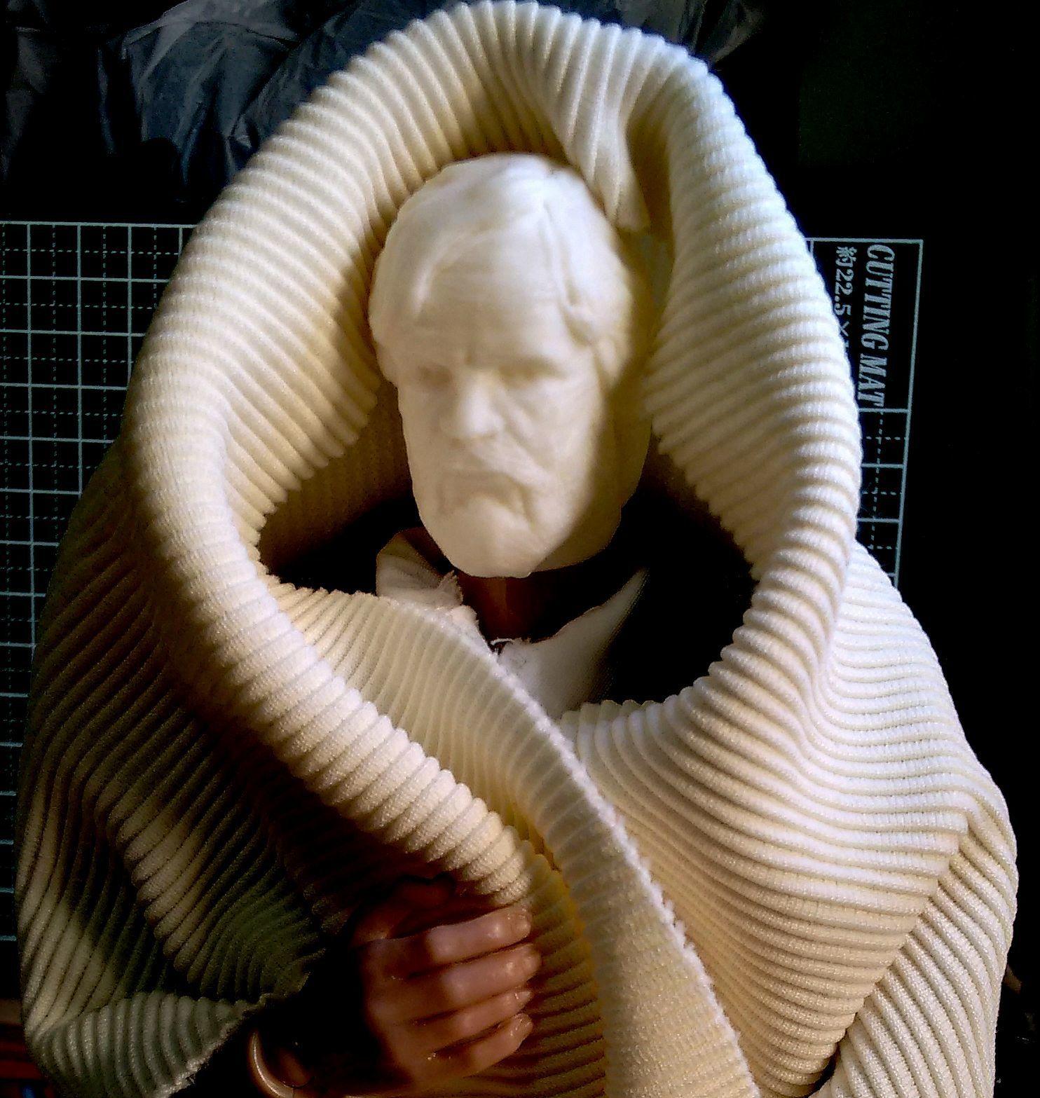 HEAD_FOR_1-6_B.jpg Download STL file LAST JEDI OLD LUKE HEAD FOR FIGURES V1 • 3D printing object, Masterclip