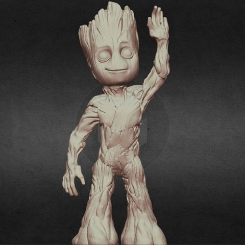 capture_06222017_113404.jpg Download OBJ file LIL BABY GROOT • 3D print template, Masterclip