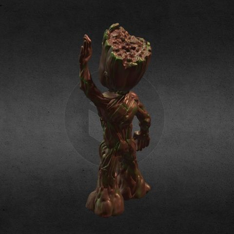 capture_06222017_113351.jpg Download OBJ file LIL BABY GROOT • 3D print template, Masterclip