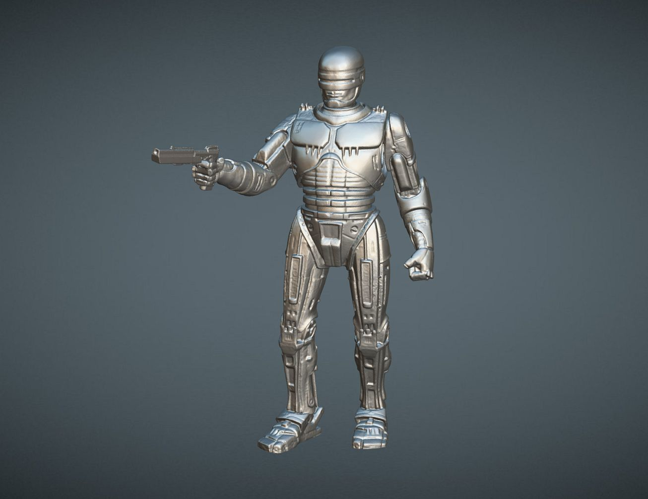 CAPTURE_005.jpg Download STL file ROBOCOP INSPIRITED FIGURE • Design to 3D print, Masterclip
