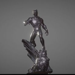 3D printer models BLACK PANTHER INSPIRITED DIORAMA, Masterclip