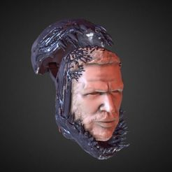 Download 3D print files TOM HARDY VENOM INSPIRITED FIGURE HEAD, Masterclip