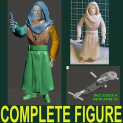 3D printing model LAST JEDI INSPIRITED OLD LUKE ACTION FIGURE, Masterclip