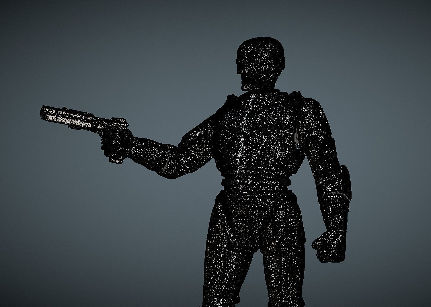 CAPTURE_008.jpg Download STL file ROBOCOP INSPIRITED FIGURE • Design to 3D print, Masterclip