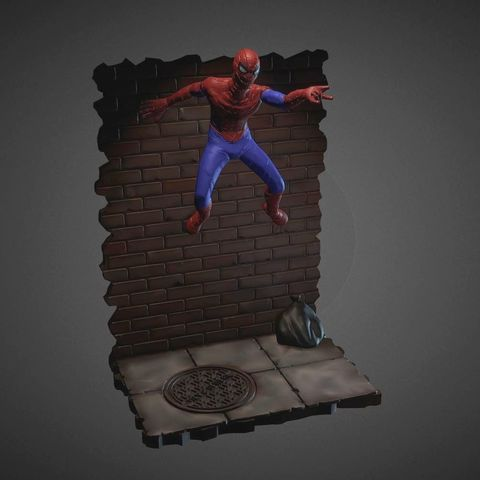 Download 3D printing files SPIDER-MAN INSPIRITED DIORAMA, Masterclip