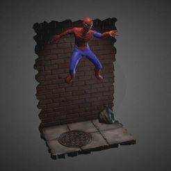 3D printer file SPIDER-MAN INSPIRITED DIORAMA, Masterclip