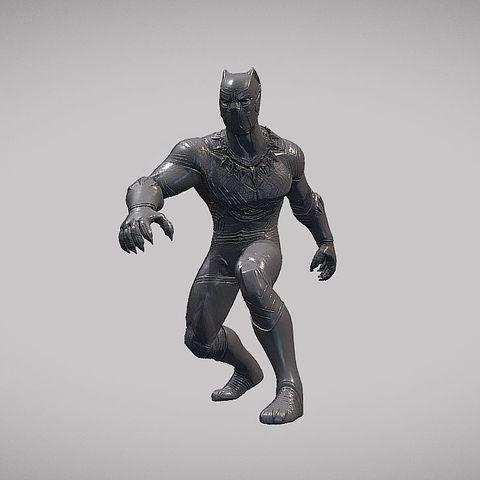 Download 3D printing files BLACK PANTHER V01 INSPIRITED MODEL, Masterclip