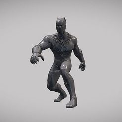 BLACK PANTHER V01 INSPIRITED MODEL 3D model, Masterclip