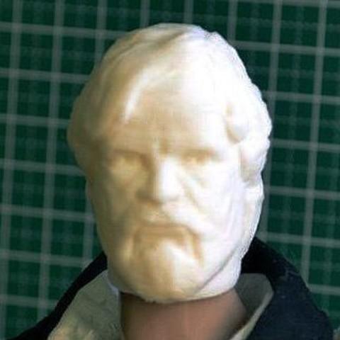 HEAD_FOR_1-6_C.jpg Download STL file LAST JEDI OLD LUKE HEAD FOR FIGURES V1 • 3D printing object, Masterclip