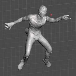 Download free 3D printer templates SPIDER-MAN POSED FOR FRIDGE MAGNET, Masterclip