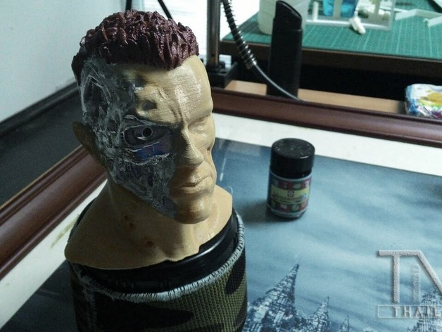 made_002.jpg Download free STL file ARNOLD T2 STYLE BATTLE DAMAGED TERMINATOR INSPIRITED BUST for 3D print  • Object to 3D print, Masterclip