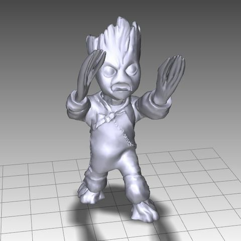 Download free STL files BABY GROOT (LOW-RES FREE), Masterclip