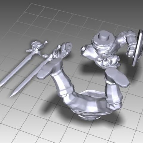 004.jpg Download free OBJ file LINK FROM ZELDA SPLITED • 3D printing design, Masterclip
