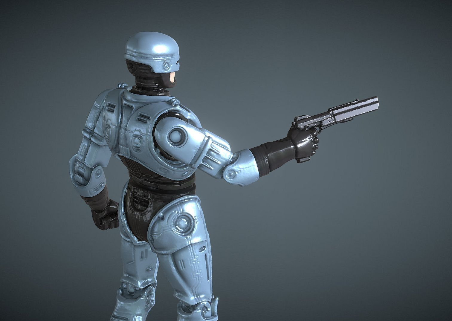 CAPTURE_004B.jpg Download STL file ROBOCOP INSPIRITED FIGURE • Design to 3D print, Masterclip