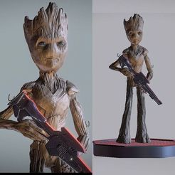 Teen_Groot_018.jpg Download STL file TEENAGE GROOT INSPIRITED MODEL v1 • 3D printing design, Masterclip