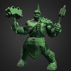 Download 3D printer templates HULK FROM THOR RAGNARÖK INSPIRITED MODEL FOR 3D PRINT, Masterclip