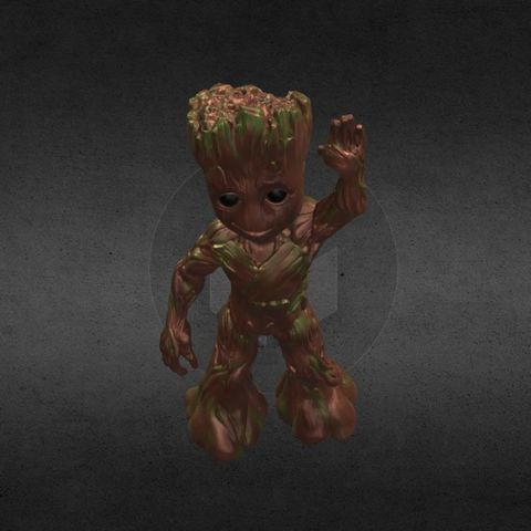 capture_06222017_113357.jpg Download OBJ file LIL BABY GROOT • 3D print template, Masterclip