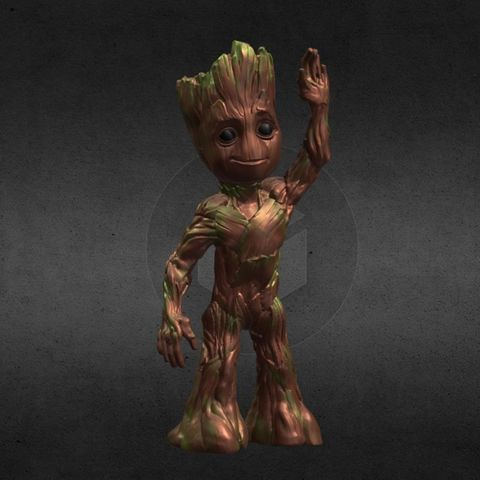 capture_06222017_113344.jpg Download OBJ file LIL BABY GROOT • 3D print template, Masterclip
