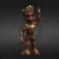 Download OBJ file LIL BABY GROOT • 3D print template, Masterclip