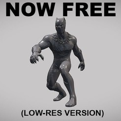 Free STL file BLACK PANTHER V01 LOW-RES VERSION, Masterclip