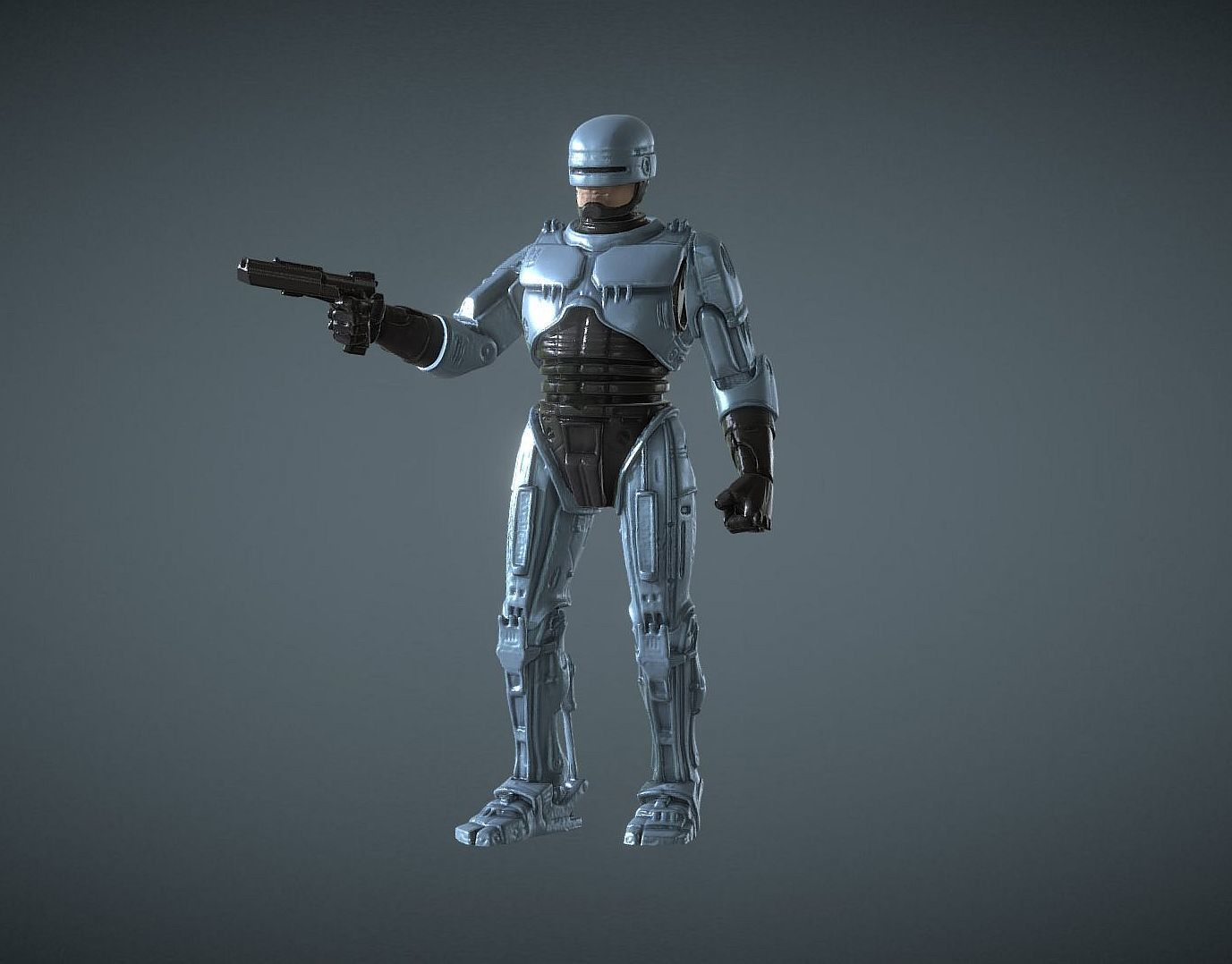 CAPTURE_003.jpg Download STL file ROBOCOP INSPIRITED FIGURE • Design to 3D print, Masterclip